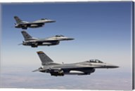 Three F-16's fly in Formation over Arizona Fine-Art Print