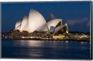 Australia, Sydney Opera House at night on waterfront Fine-Art Print