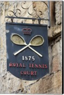 Sign for Royal Tennis Court (1875), Tasmania, Australia Fine-Art Print