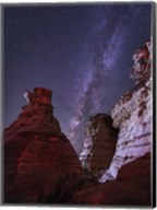 Milky Way  above the Wedding Party Rock Formation, Oklahoma Fine-Art Print