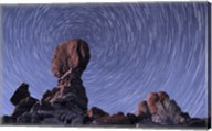 Star trails around the Northern Pole Star, Arches National Park, Utah Fine-Art Print