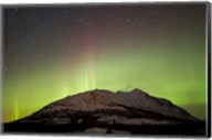 Aurora Borealis and Milky Way over Carcross Desert Fine-Art Print