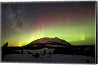 Aurora Borealis and Milky Way over Carcross Desert, Canada Fine-Art Print