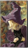 Three Wishes - Witch Way, Black Cat Fine-Art Print