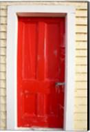 Red Door, Sutton Railway Station, Otago, South Island, New Zealand Fine-Art Print