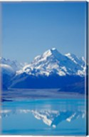 Aoraki, Mt Cook and Lake Pukaki, South Canterbury, South Island, New Zealand Fine-Art Print