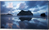 Approaching Storm, Archway Islands, Wharariki Beach, Nelson Region, South Island, New Zealand Fine-Art Print