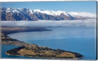 The Remarkables, Lake Wakatipu, and Queenstown, South Island, New Zealand Fine-Art Print