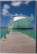 Antigua, St Johns, Heritage Quay, Cruise ship Fine-Art Print