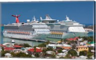 Antigua, St Johns, Heritage Quay, Cruise ship area Fine-Art Print