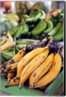 Fresh bananas at the local market in St John's, Antigua Fine-Art Print