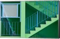 Hotel Staircase (horizontal), Rockley Beach, Barbados Fine-Art Print