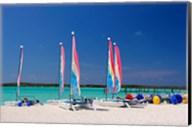 Sailing rentals, Beach, Castaway Cay, Bahamas, Caribbean Fine-Art Print