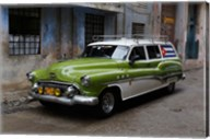 1950's era antique car and street scene from Old Havana, Havana, Cuba Fine-Art Print