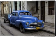 1950's era blue car, Havana Cuba Fine-Art Print