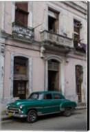 1950's era green car, Havana Cuba Fine-Art Print