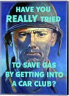 Save Gas - Car Club Fine-Art Print