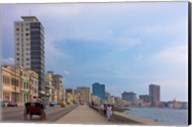Malecon street along the waterfront, Havana, UNESCO World Heritage site, Cuba Fine-Art Print