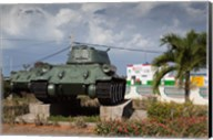 Cuba, Bay of Pigs, T-34 tank Fine-Art Print