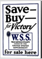 Save - Buy - For Victory Fine-Art Print