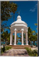 Wedding gazebo, Riu Palace, Bavaro Beach, Higuey, Punta Cana, Dominican Republic Fine-Art Print