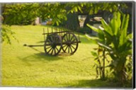 Domaine de Severin Rum Distillery, and Sugar Cane Cart, Guadaloupe, Caribbean Fine-Art Print