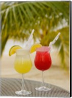 Cocktails on the Beach, Jamaica, Caribbean Fine-Art Print