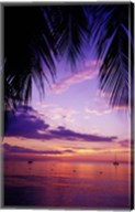 Sunset on the beach, Negril, Jamaica, Caribbean Fine-Art Print