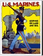 U.S. Marines - Service on Land and Sea Fine-Art Print