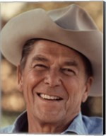 Ronald Reagan in Cowboy Hat Fine-Art Print