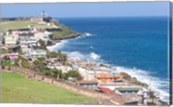 View towards El Morro from Fort San Cristobal in San Juan, Puerto Rico Fine-Art Print