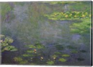 Waterlilies (green with blue) Fine-Art Print