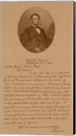 President Abraham Lincoln and His Letter to Mrs Bixby Fine-Art Print