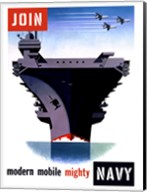 Modern, Moblie, Mighty, Navy Fine-Art Print