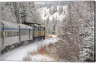 Via Rail Snow Train Between Edmonton & Jasper, Alberta, Canada Fine-Art Print