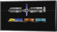 Lunar space elevator compared to a locomotive Fine-Art Print