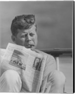John F Kennedy Smoking a Cigar Fine-Art Print