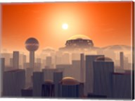 Artist's Concept of an Earth Buried by Layers of Cities Built by Generations of our Descendants Fine-Art Print