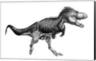 Black Ink Drawing of Albertosaurus Sarcophagus Fine-Art Print