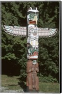 Totem Pole at Stanley Park, Vancouver Island, British Columbia, Canada Fine-Art Print