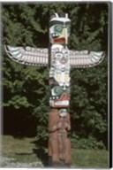 Totem Pole at Stanley Park, Vancouver Island, British Columbia, Canada Fine-Art Print