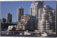 Vancouver Skyline From Granville Island, British Columbia, Canada Fine-Art Print