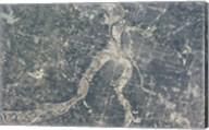 Satellite View of Kansas City, Missouri Fine-Art Print