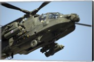 An AH-64 Apache in Flight Fine-Art Print