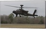 An AH-64 Apache Helicopter in Midair, Conroe, Texas Fine-Art Print