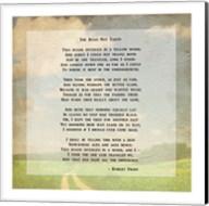 Robert Frost Road Less Traveled Poem Fine-Art Print