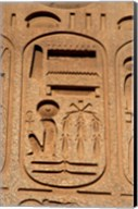 Hieroglyphics, Obelisk, Ramses II, Temple of Luxor, Egypt Fine-Art Print