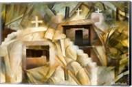 Abstract Cubistic Church Fine-Art Print