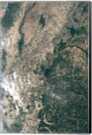 Satellite Image of Flood Waters in Memphis, Tennesse Fine-Art Print