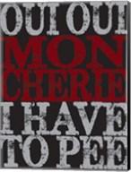Oui Oui Typography 01 Fine-Art Print